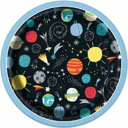 Outer Space Round Paper Plates 7\