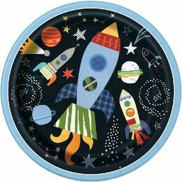 Outer Space Round Paper Plates 9\