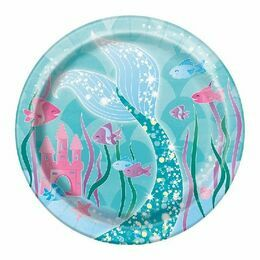 "Mermaid Tales Round Paper Plates 7"" (Pack of 8)"