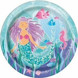 "Mermaid Tales Round Paper Plates 9"" (Pack of 8)"