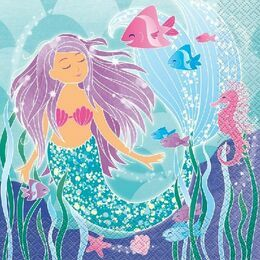 Mermaid Tales Paper Napkins