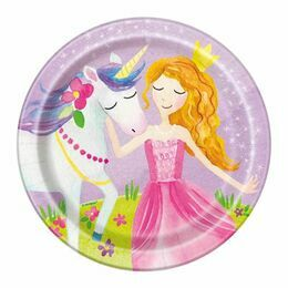 Magical Princess Round Paper Plates 7\
