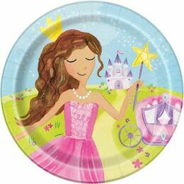 Magical Princess Round Paper Plates 9\