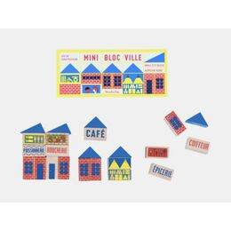 Moulin Roty Mini Town Building Blocks (23 Pieces)