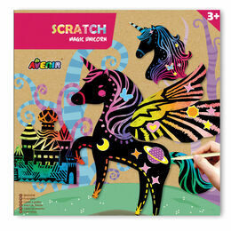 Avenir Scratch Art Set - Magic Unicorn Kingdom