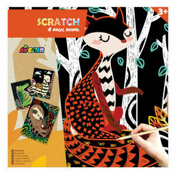 Avenir Scratch Art Set - Magic Animals