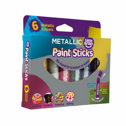 Little Brian Paint Sticks - Metallic Colours (Pack of 6)