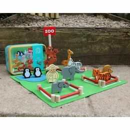 Apples to Pears Zoo in a Tin Play Set