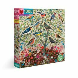 eeBoo Songbirds Tree 1000 Piece Puzzle
