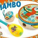 Djeco Animambo Set of 3 Musical Instruments (tambourine, maracas, castanet) additional 2