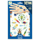 Djeco Temporary Tattoos - Space Oddity (Glow in the Dark) additional 3
