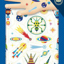 Djeco Temporary Tattoos - Space Oddity (Glow in the Dark) additional 1