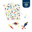 Djeco Temporary Tattoos - Space Oddity (Glow in the Dark) additional 2