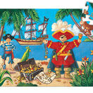 Djeco The Pirate & His Treasure Silhouette Jigsaw Puzzle - 36 Piece additional 2