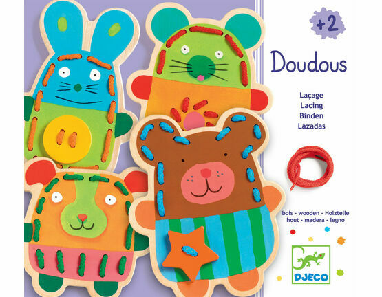 Djeco Cuddly Animals Lacing Game