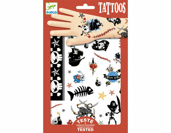 Djeco Temporary Tattoos - Pirates