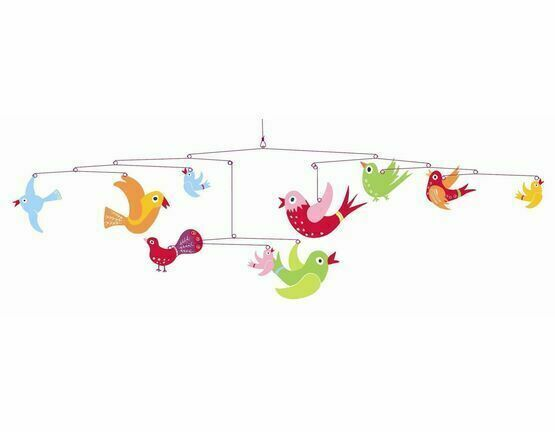 Djeco Baby Mobile - Colourful Flight of Fancy