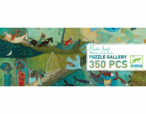 Djeco Gallery 350 Piece Jigsaw Puzzle - Poetic Boat