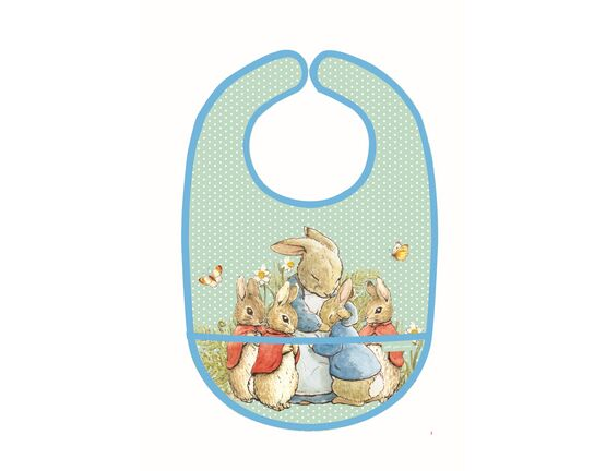 Petit Jour Paris Peter Rabbit PVC Bib - Green