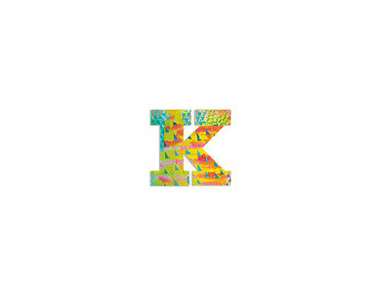 Djeco Wooden Letter K - Peacock