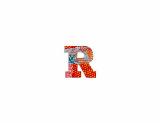 Djeco Wooden Letter R - Peacock