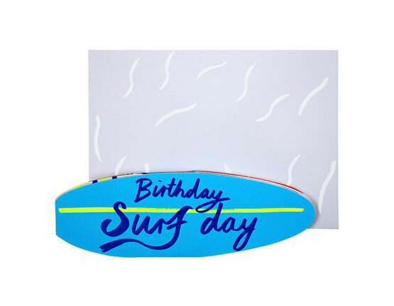 Birthday Surfday Greeting Card