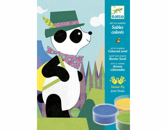 Djeco Coloured Sand - Panda and Friends