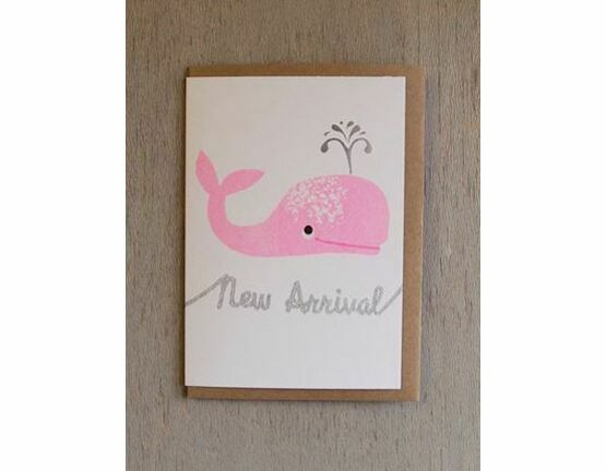 Whale New Arrival Riso Baby Card - Pink