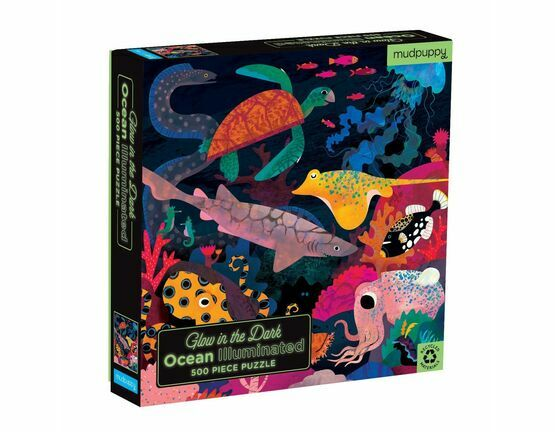 Mudpuppy Ocean Illuminated Glow In The Dark Puzzle