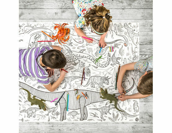 Eggnogg Colour In Giant Poster - Dinosaurs