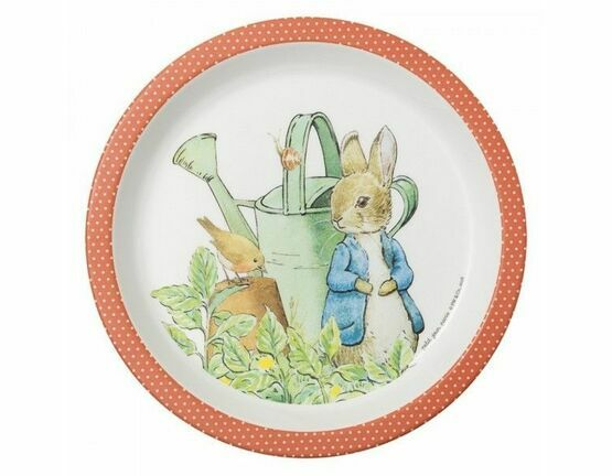 Petit Jour Paris Peter Rabbit Baby Plate (Coral)