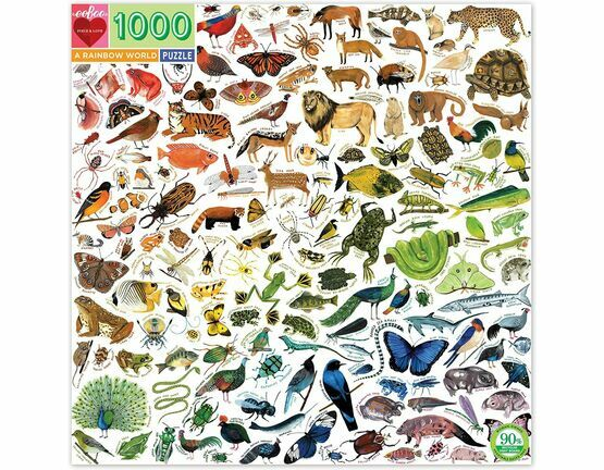 eeBoo A Rainbow World Animal 1000 Piece Puzzle