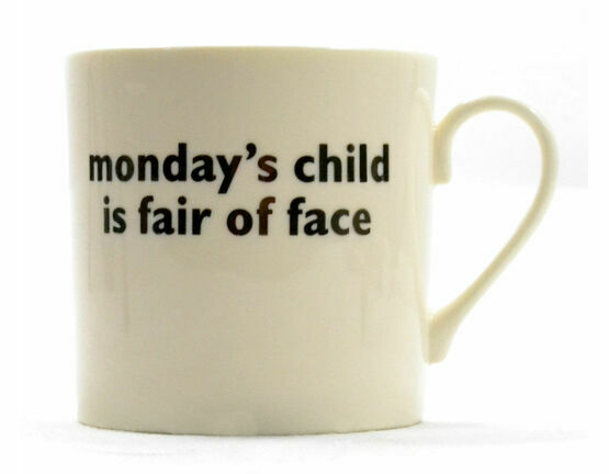 big tomato company Monday's Child Mug