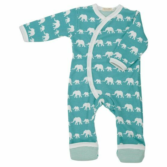 Pigeon Organics Elephant Silhouette All in One – Blue