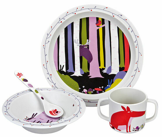 Petit Jour Paris Forest Melamine 4 Piece Dining Set