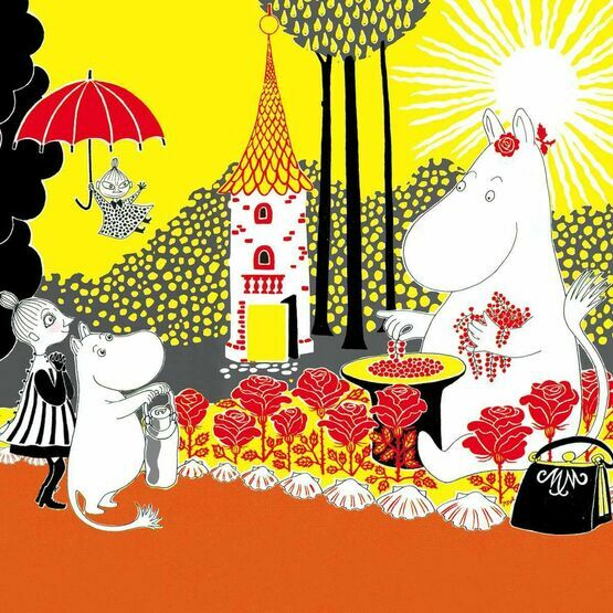 Hype Moomin greeting card - Moominmama with Berries