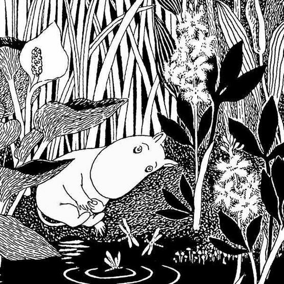 Hype Moomin Greeting Card - Dreaming Moo