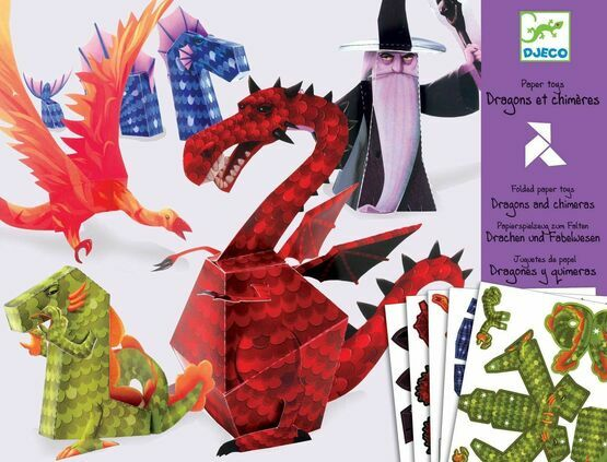 Djeco 3D Models Paper to Make - Dragons & Chimeras