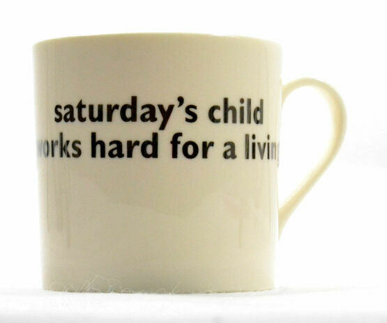 big tomato company Saturday's Child Mug