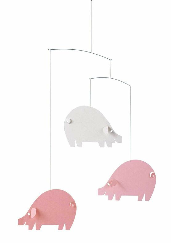 Flensted Mobiles Pink Piggy Mobile